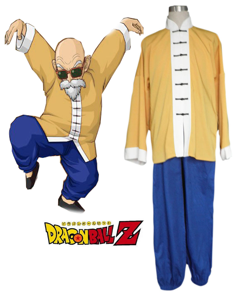 Free Shipping Dragonball Kai Muten Roshi Kame Sen nin Chinese suit Anime Cosplay Costume