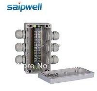 2015 nowy SAIPWELL IP65 wodoodporna 80*160*55 MM skrzynka przyłączeniowa z dławik kablowy wodoodporne obudowy DS AG 0816 S w null od Majsterkowanie na