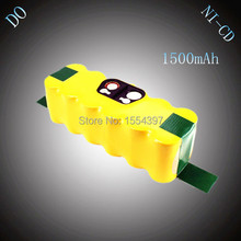 14.4V NI-CD 1500mAh Rechargeable Battery Pack Replacement for iRobot Roomba 510 520 530 550 560 620 780 760 80501 Vacuum Cleaner