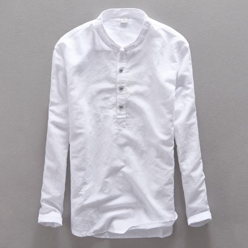 Italija Suhaiwe's blagovna znamka bombažna moška srajca z dolgimi - Moška oblačila - Fotografija 6