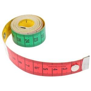 Image 2 - 1pcs 60in 단추 재단사 측정 테이프 바느질 도구 플랫 테이프 150cm 바디 측정 도구