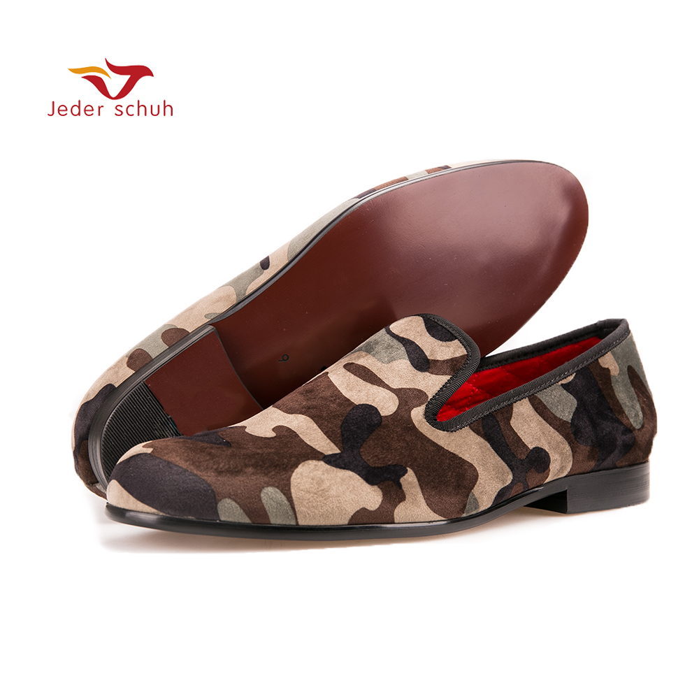 все цены на Men loafers Handmade men army green  camouflage loafers Man military style casual shoes fashion party smoking slippers онлайн
