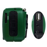 Portable FM Radio DE13 FM MW SW Crank Dynamo Hand cranked Solar Emergency Radio World Receiver with Flashlight S2