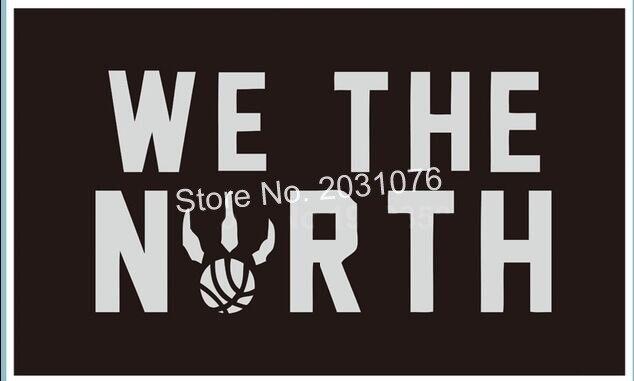 Toronto Raptors NBA Wir Die North Schwarz Basketball 3x5 Füße Flagge Wand Aufhänger Custom Flagge