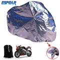 L Aluminum Foil Motorcycle Vehicle Electric Anti Theft Waterproof Covers Motor Rain Coat Protectiver Universal ESPEAR B24-1