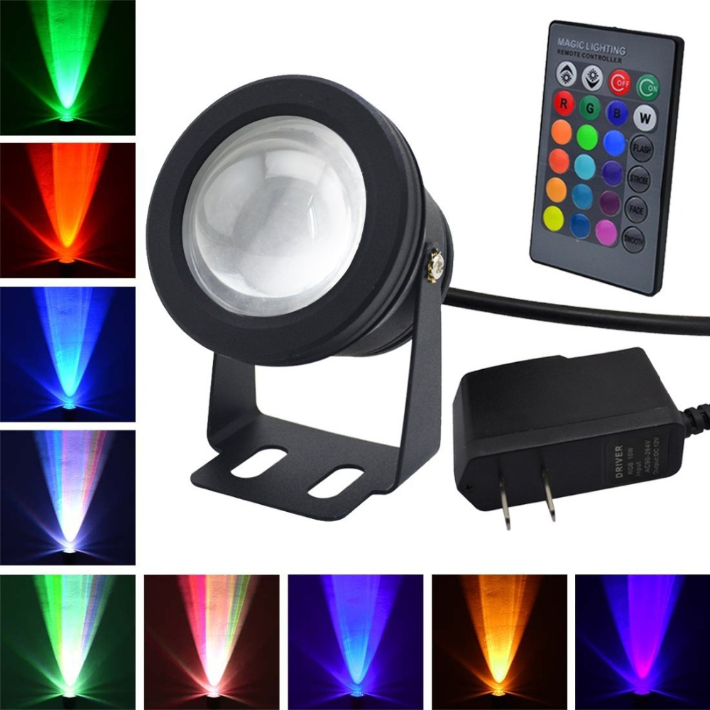 Underwater Rgb Light Led Flood Light Swimming Pool/aquariums/garden Views/fountains 10w Waterproof Us Plug Lumiere Piscine A Plastic Case Is Compartmentalized For Safe Storage Lights & Lighting