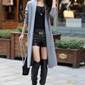 2016 Woman New Style Fashion Solid Color Winter Long Knitted Coat Sweater Cardigan