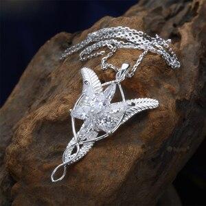 Image 3 - LOTR Arwen Evenstar S925 Sliver Pendant Necklace Elf Nekclace Sliver Jewelry New Year Valentines Day Gifts For Women Girls