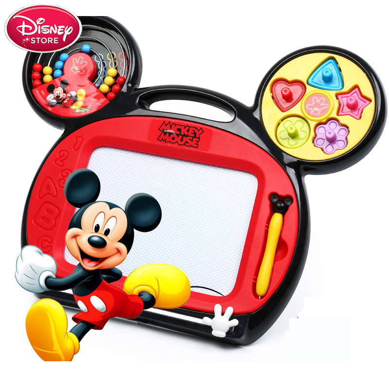 Disney Mickey Minnie Mouse Kid Paint Set Drawing Board Toys Educational Toys For Girls Boys Magnetic Board Children Gift