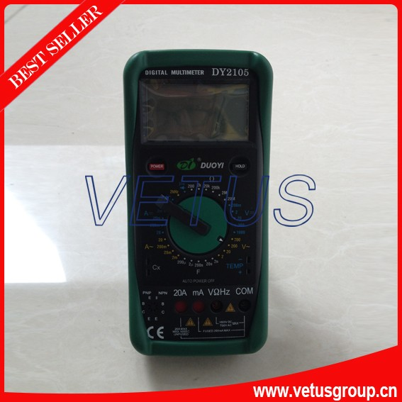 ФОТО Digital Multimeter DY2105 Frequency 2KHz (1.5+5) Mechanical protection type digital multimeter withpreventing from burning down