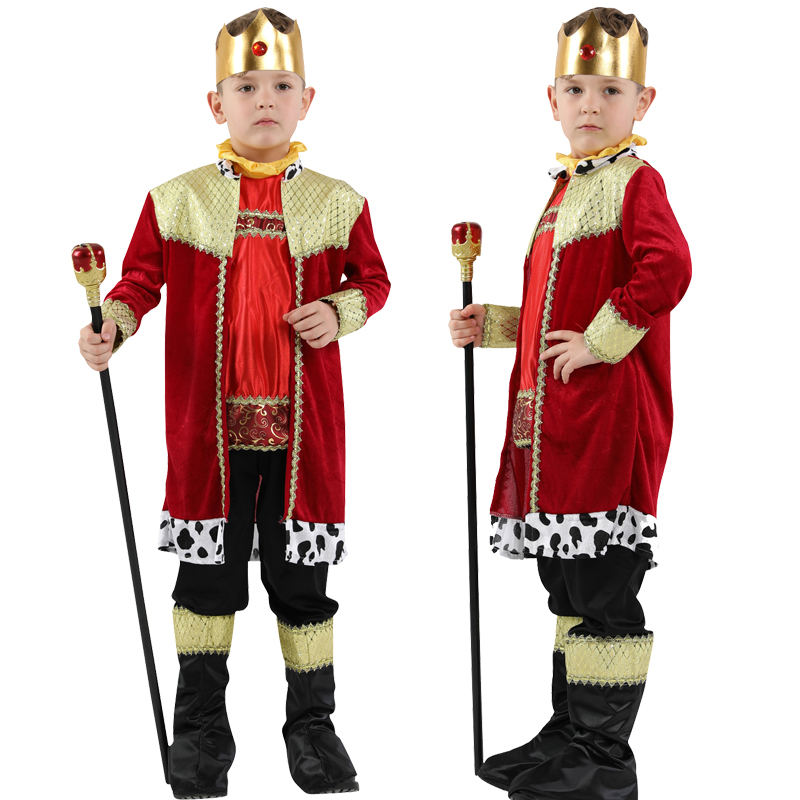 NEW!S-XL Halloween children's prince cosplay costume masquerade party performance clothes show costume children's king costume