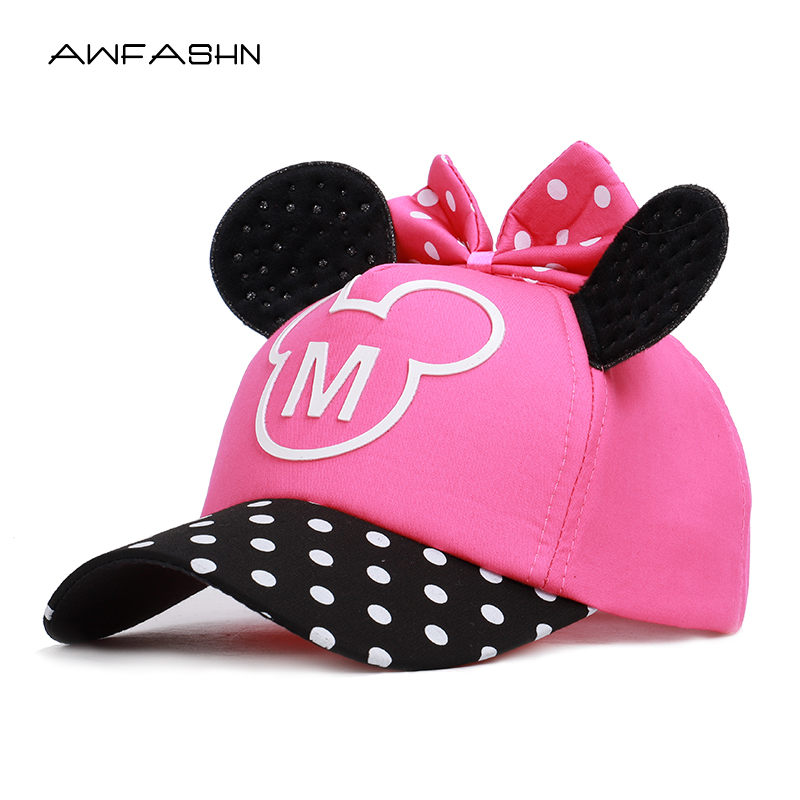 New Lovely Baseball Cap Kids Baby Boys Girls Adjustable Caps Fashion Cartoon Mickey Minnie Children Snapback Hat Bone Masculino(China)