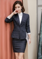 High Quality Fabric Business Suits With Jackets and Skirt Professional Uniform Styles For Women Office Work Wear Blazers Set