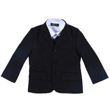 Nimble black suit for boy Solid boys suits for weddings boys blazer costume enfant garcon mariage jogging garcon boys blazer