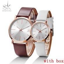 купить Shengke Women Dress Watches Luxury Lovers Couple Watches Fashion Casual Quartz Watch Men Wristwatch Male Waterproof Clock SK по цене 911.19 рублей