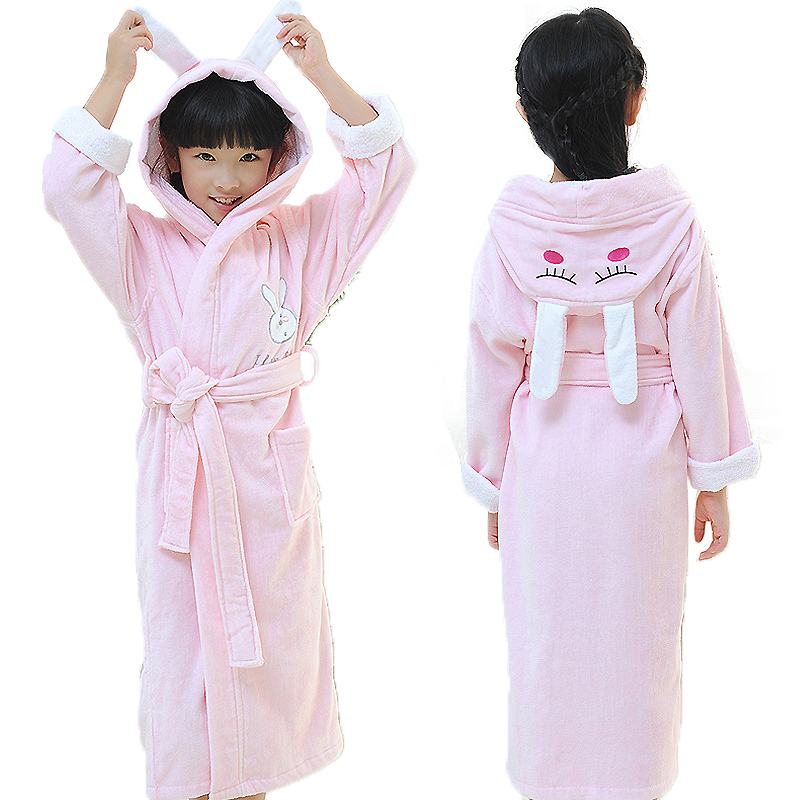 Robes Childrens Bathrobes Cotton Kids Dressing Gown Child Cartoon Pyjamas Towel Fleece White Bath Robe Boys Autumn Winter Ample Supply And Prompt Delivery Men's Sleep & Lounge