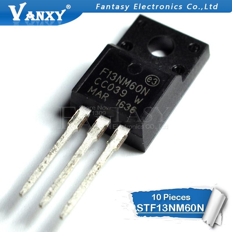 10PCS STF13NM60N TO-220F 13NM60N TO220 13NM60 F13NM60N STF13NM60 New MOS FET Transistor