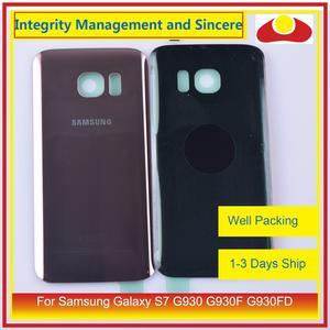 Image 5 - 50 шт./лот для Samsung Galaxy S7 G930 G930F G930FD SM G390F корпус батарейного отсека задняя стеклянная крышка корпус