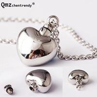 Top qualtiy 316L Acero inoxidable openable Love Heart Locket collar recuerdo Memorial mascotas joyería cenizas urna colgante collar