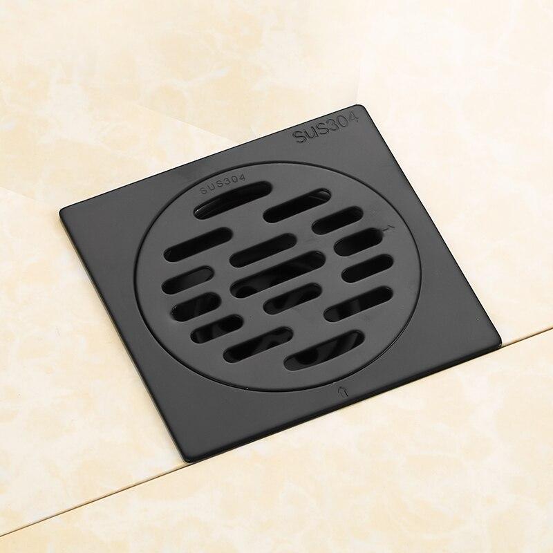 Высокое качество Ванная комната Кухня 4 дюйма квадратный душ Трап с удалением решетки-Сделано из нержавеющей стали SUS304