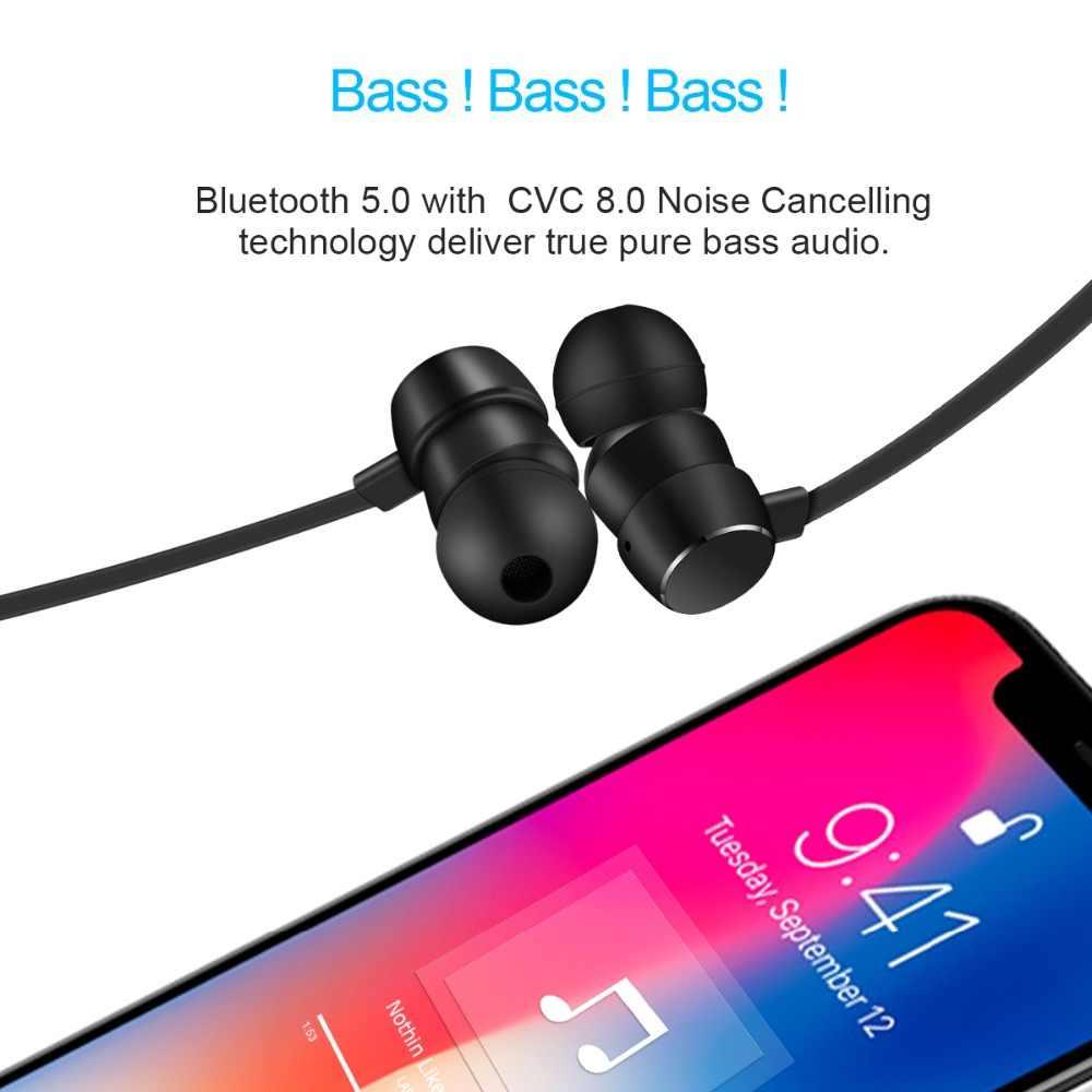 Wavefun Flex Pro szybkie ładowanie pomocy i współpracy administracyjnej Bluetooth 5.0 słuchawki bezprzewodowe słuchawki sportowe Stereo słuchawki do Xiaomi iPhone z mikrofonem