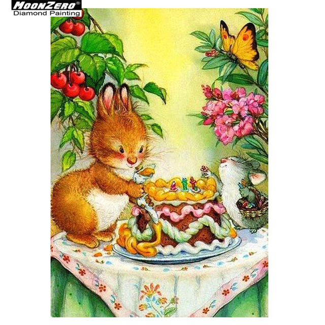 5D Diamond Painting Diy Full Embroidery Hamster Birthday Cake 3D Crafts Mosaic Picture Rhinestones Home Decor