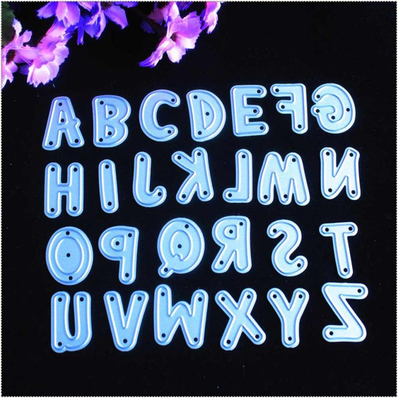 YINISE YLCD723 Alphabet Metal Cutting Dies For Scrapbooking Stencils DIY Album Paper Cards Decoration Embossing Folder Die CutsYINISE YLCD723 Alphabet Metal Cutting Dies For Scrapbooking Stencils DIY Album Paper Cards Decoration Embossing Folder Die Cuts