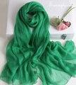 Cachecol marca de luxo Verde Escuro 100% puro cobertor de seda xales e hijabs musilim cachecóis bohemian protetor solar bandanas cachecol Queda