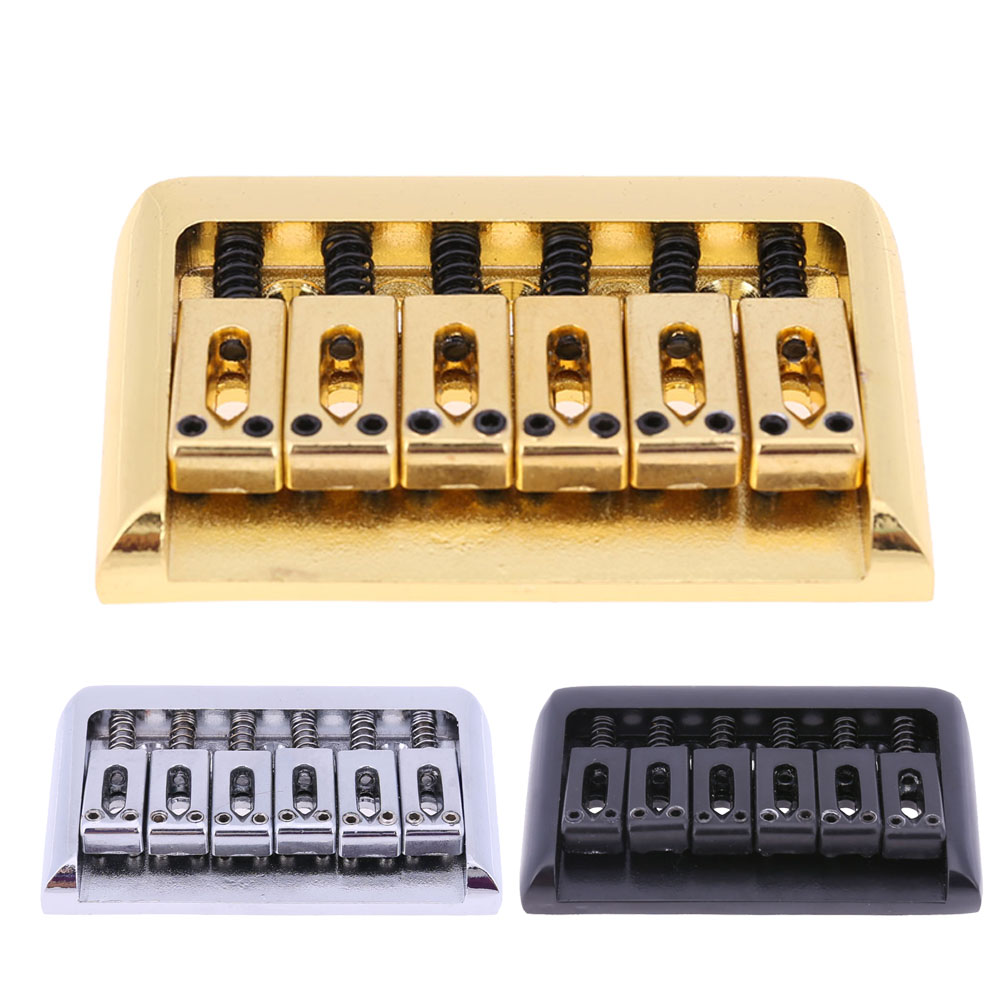 1 Set 1pc 6 Saddle Metal Guitar Bridge for Electric Guitar Bass Guitar Parts & Accessories 3 Colors antique chinese antique furniture copper fittings metal door latch bolt windows