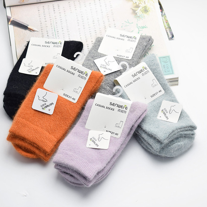 New High Quality Brand Thick Angola Rabbit&Merino Wool Socks Women Winter Socks Warm Socks For Women Female Socks Big Size one set winter thick socks