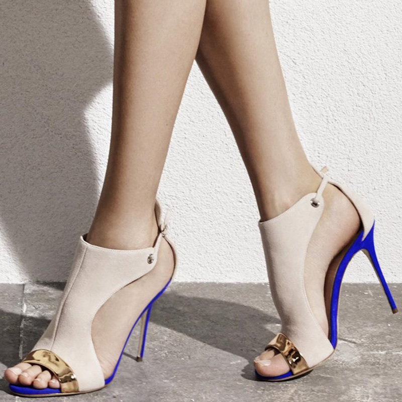 shofoo shoes,New fashion free shipping, beige suede, blue and orange in the bottom, stiletto sandals sandals. SIZE:34-45 new 2 4g wireless digital 2 0 lcd baby monitor camera audio talk video night vision baby nanny security camera