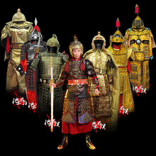 Chinese Ancient General warrior Outfit corselet brace helmet China Army costume armor Cosplay film TV clothing