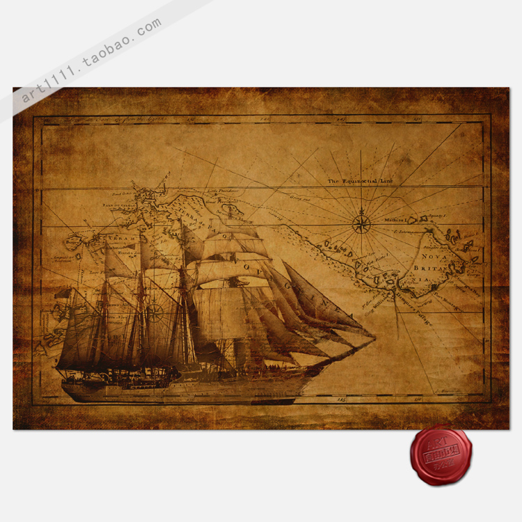MODERN sailing Nautical home decor poster RETRO vintage style paper art crafts wallpaper for wall decor painting 58*40cm