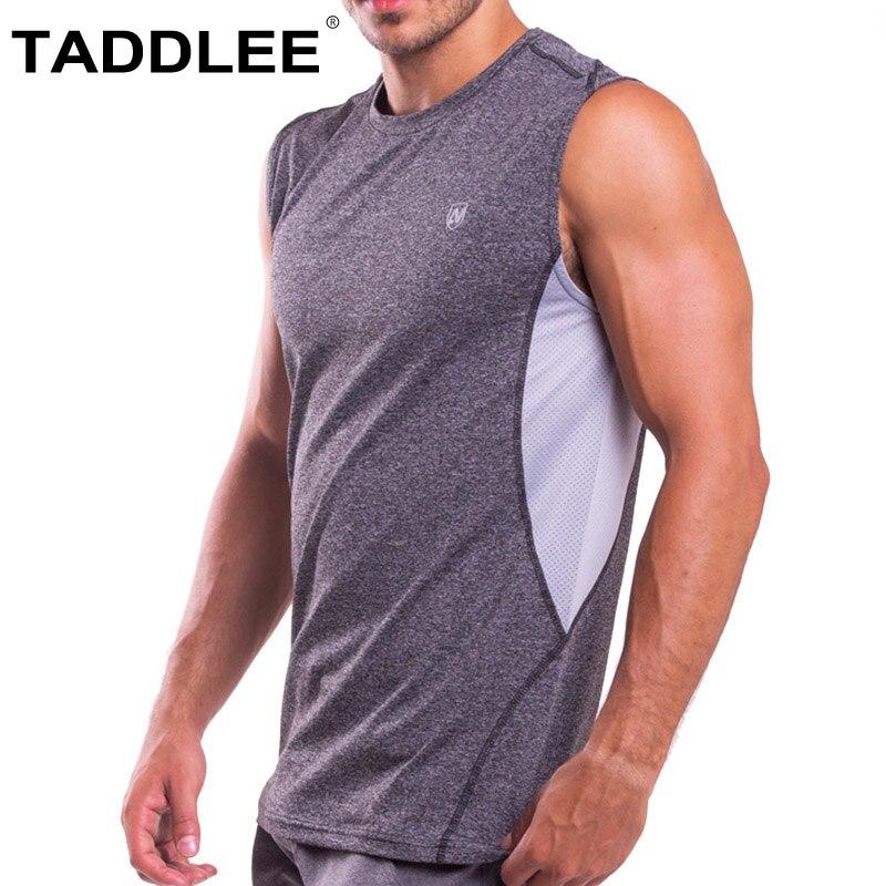Taddlee marque hommes débardeur t-shirts sans manches course Sport Stringer Singlets Fitness musculation maillot de corps vêtements musculaires