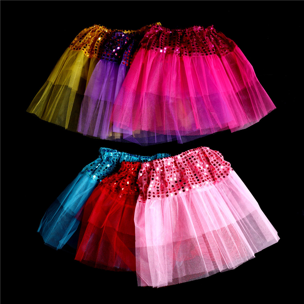 Hot Pink Sparkle Bling Sequins Baby Girl Pettiskirt Skirt Dress Dance Tutu 1-8Y