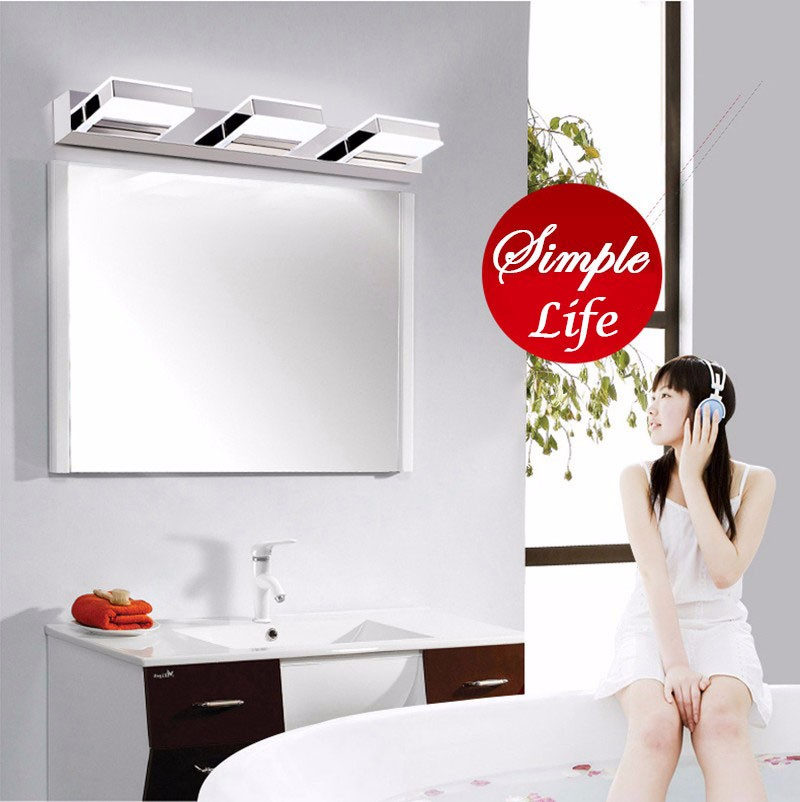 Morden 3W-12W Anti-fog Waterproof Acrylic Led Mirror Light Bathroom Wall Lamp Brief Individuality Make-up Mirror Cabinet Lamp (3)
