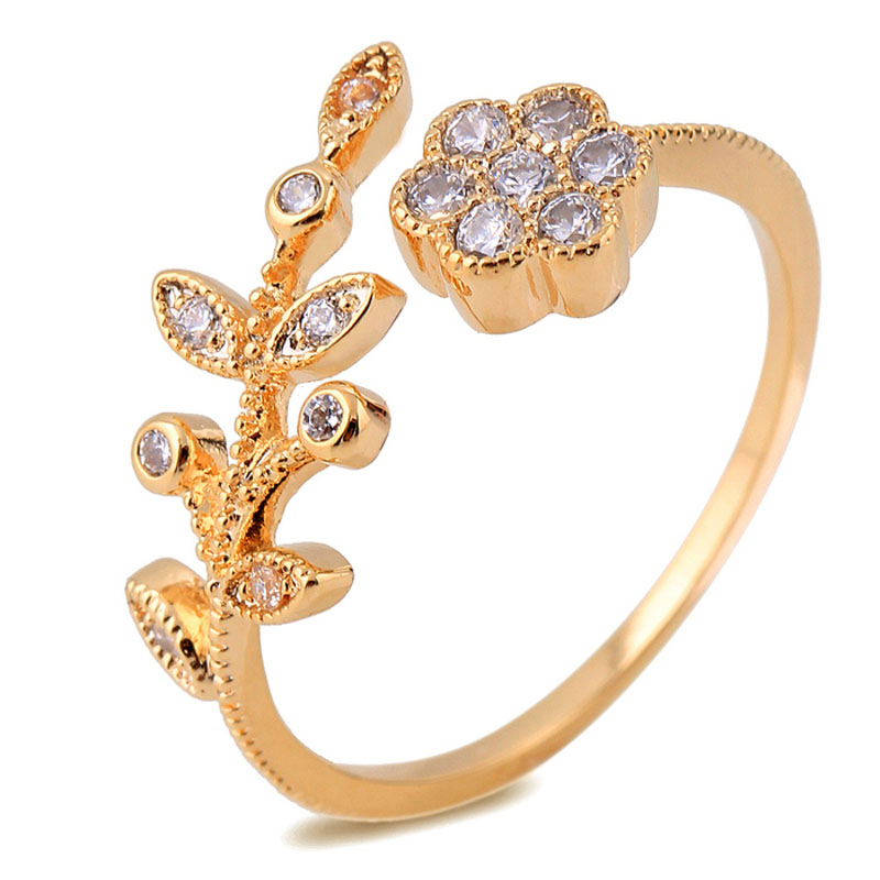 Fashion Real 18K Gold Plated Created Diamond Fine Jewelry Engagement ...