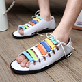 2015Summer Casual Flat Sandals for men Leisure Soft Flip Flops 3colors men Beach sandals Shoes slippers Size39-44 Free shipping