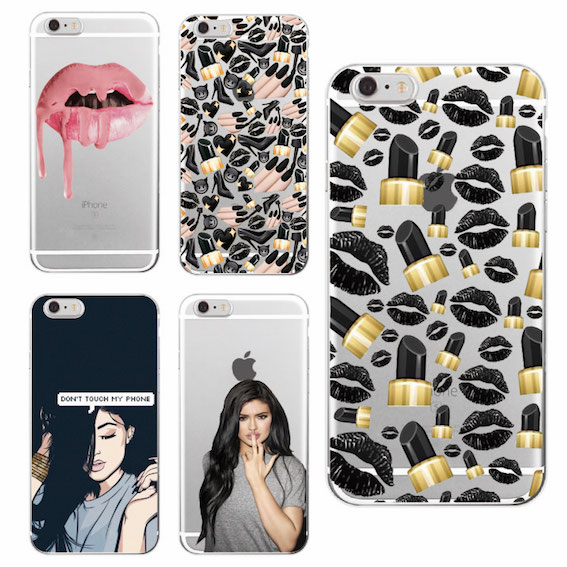 Labios sexy labial kylie jenner soft phone case fundas coque para iphone 7 7 plu