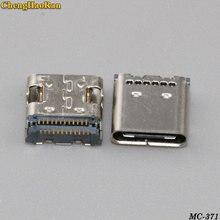 цена на ChengHaoRan 1pcs 24P USB 3.1 Type-C Connector 24 Pin Receptacle Right Angle Type C PCB SMT Dual Row Tab Female Socket