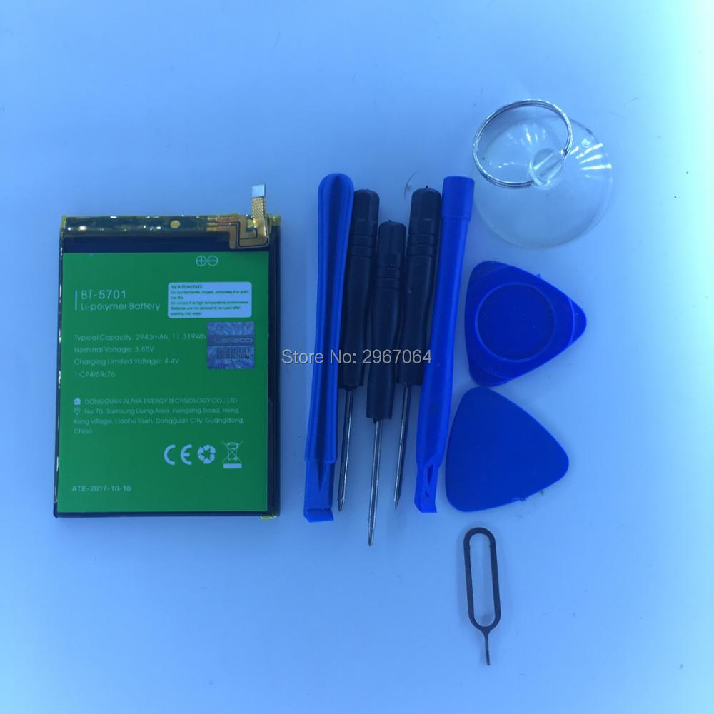 Mobile Phone Battery For LEAGOO S8 Battery 2940mAh 5.72inch MTK6750T Give Disassemble Tool For LEAGOO BT-5701 Battery