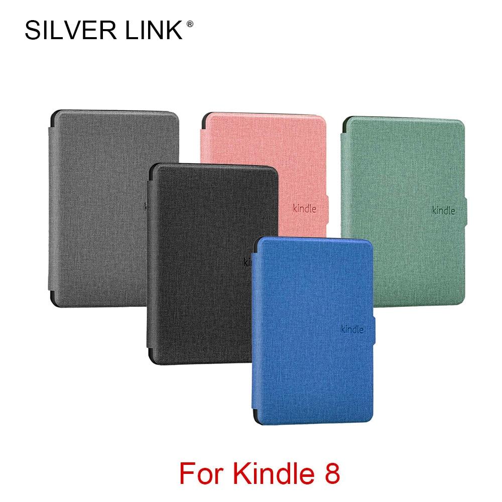 Funda de silicona PU para Kindle 8 con eslabones plateados funda de silicona para Kindle 8th Generation Ebook