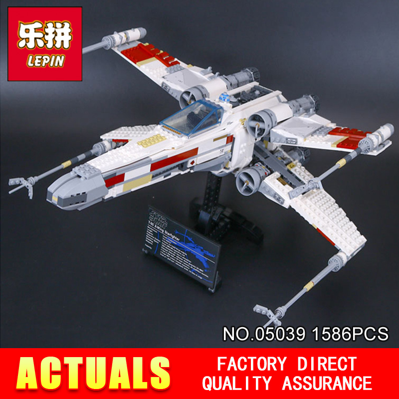 LEPIN NUEVO 05039 1586 unids Star Wars Serie Roja de Cinco x-wing Starfighter Co