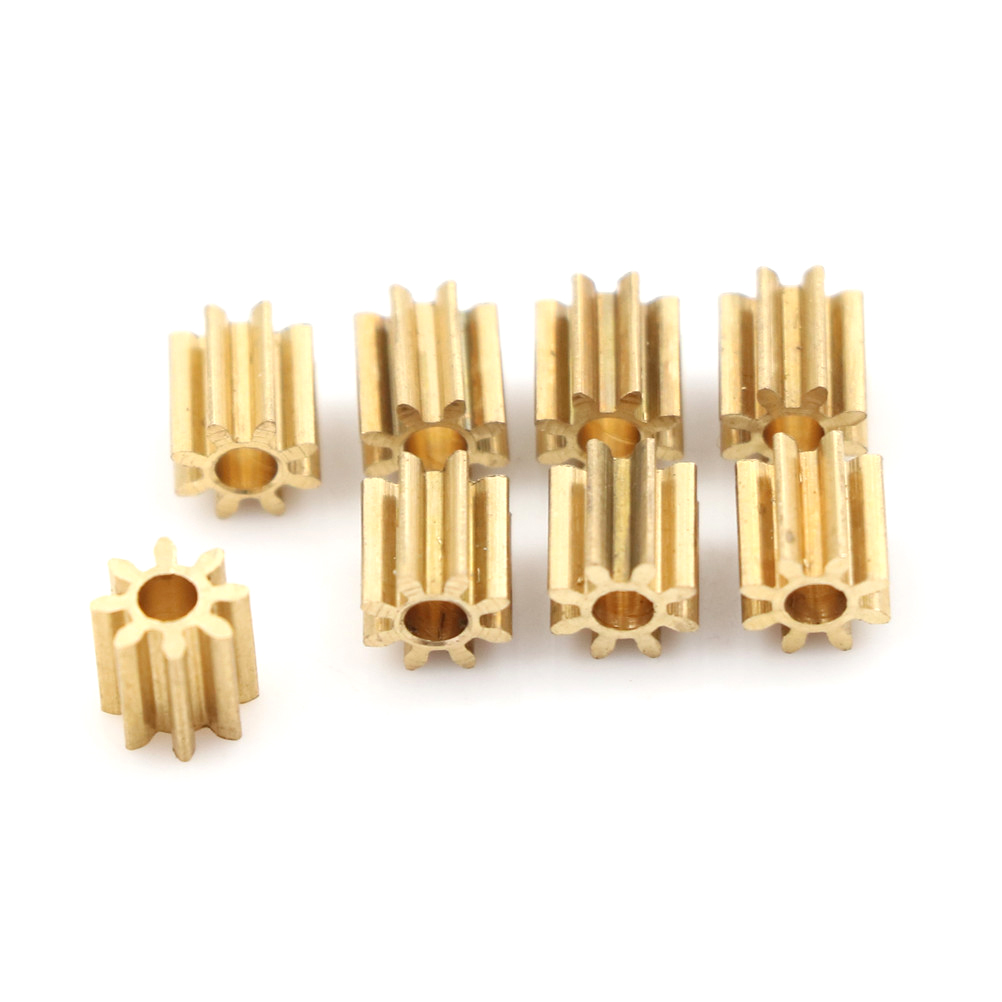 8pcs set Metal font b RC b font Motor Syma Copper Gear Spare Parts Replacement Helicopter