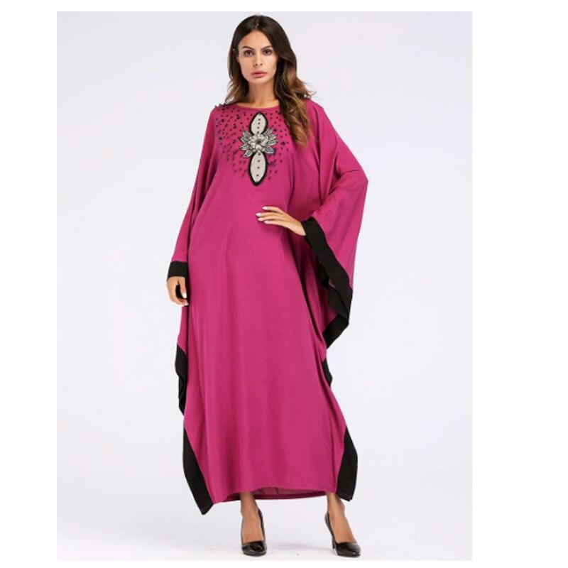 9071a4c7cf US $38.62  Orange Bat Sleeve Islamic Clothes Abaya Clothing Turkish Islamic  Clothing Muslim Women Dress Big Batwing Sleeve Solid Color-in India & ...