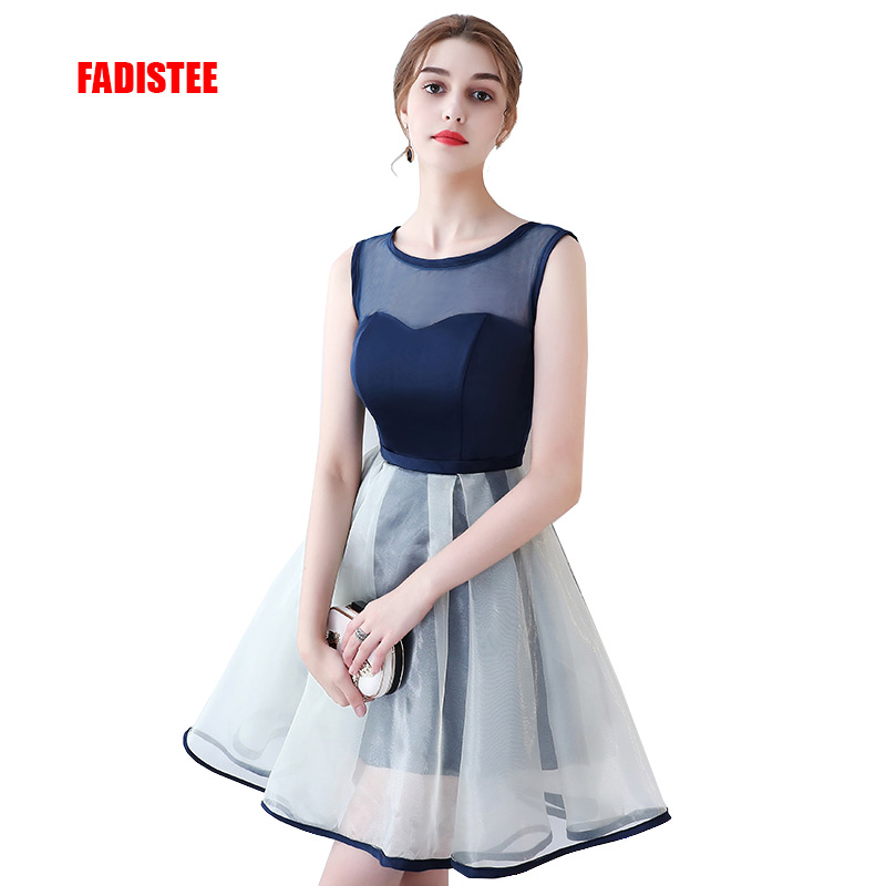 FADISTEE New arrival elegant party   dress     cocktail     dresses   Vestido de Festa satin A-line simple short style   dresses
