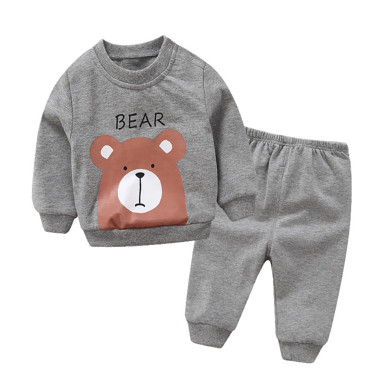 New style Pullover Cotton Babys Sets Cartoon Baby Boys Girls Clothes F1426-3074