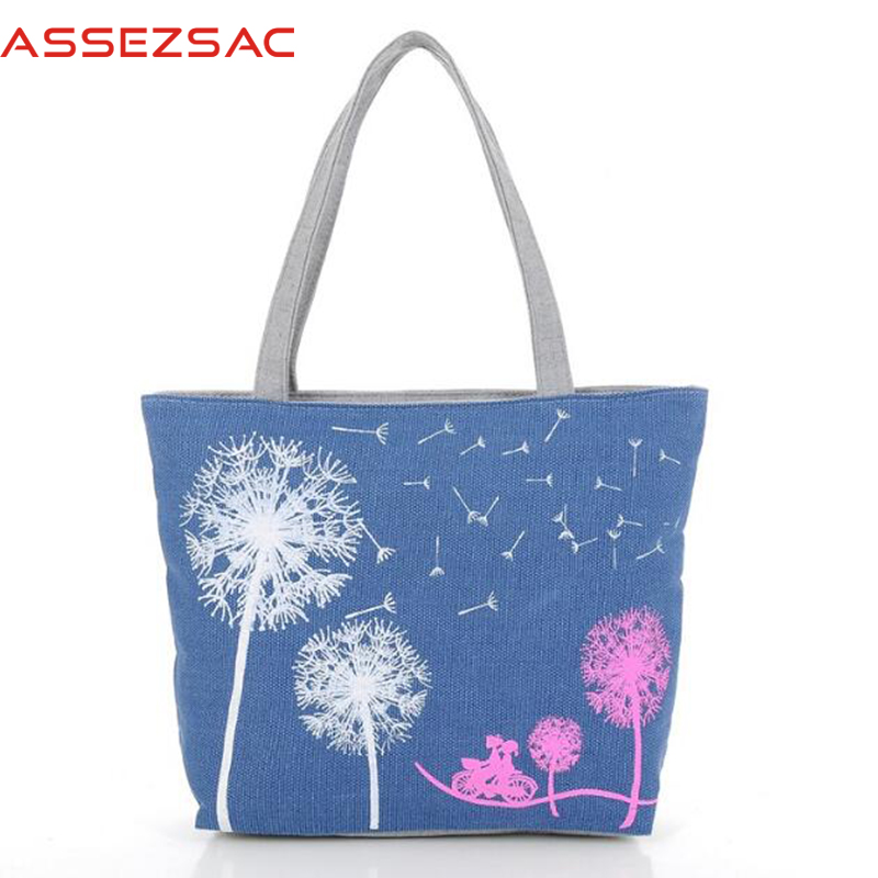 Assez sac free shipping women canvas handbags women messenger bags double should