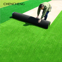 CHENCHENG 2*0.5 M Artificial Lawn Micro Landscape Real Touch Fake Grass Corridor Balcony Football Field Playground Decor