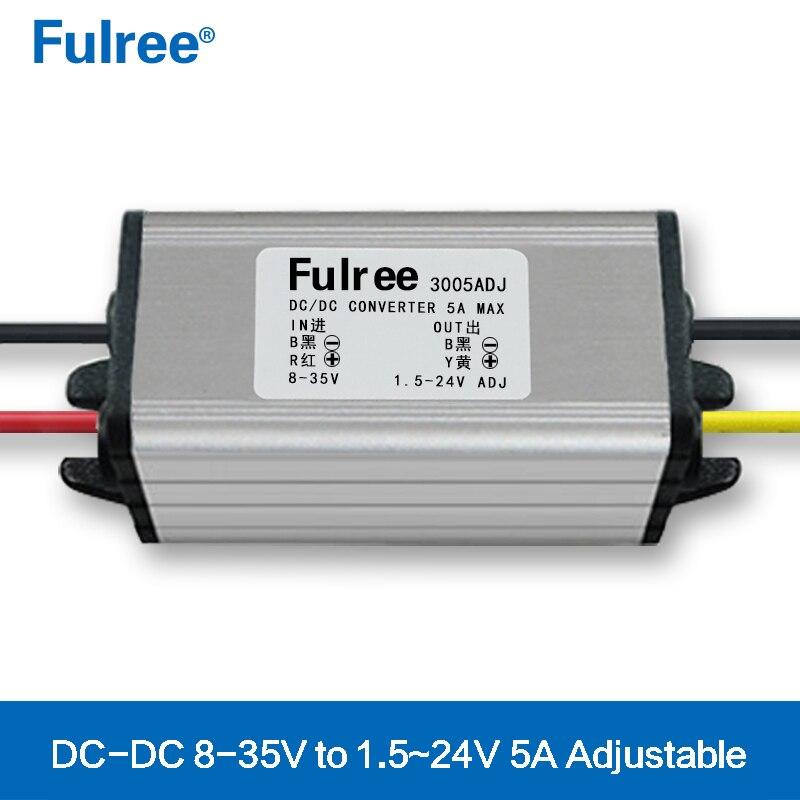 DIY 12V To 5V, 24V To 3V 5V 6V 12V 13.8V 15V 17V 19V Adjustable DC-DC Step Down Converter Car Buck Voltage Power Supply Module